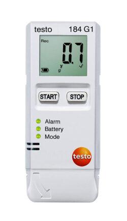 Testo 184 G1 vibracijos, drėgmės ir temperatūros duomenų kaupiklis
