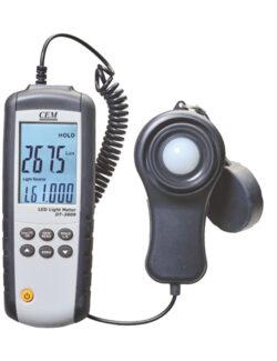 Skaitmeninis LED šviesos matuoklis CEM DT-3809.