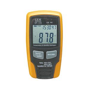 Temperatūros ir drėgmės duomenų kaupiklis CEM DT-172