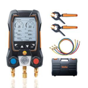 Testo 550s Smart Kit skaitmeninis kolektorius su belaidžiais temperatūros zondais ir žarnomis